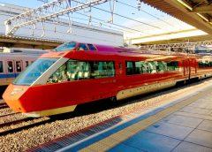 特急「ニューイヤーエクスプレス号」に起用される予定だった小田急ロマンスカーVSE6000形車両