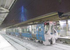 青森県で大雪が続くため青い森鉄道の八戸駅〜青森駅間は終日運休(イメージ)