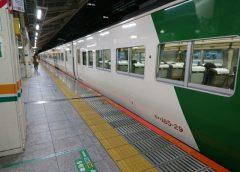 臨時快速「ムーンライトながら」号に使用されていたJR東日本185系電車