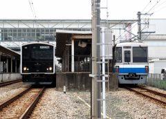 JR九州筑肥線305系電車(左)と福岡市地下鉄1000系電車(写真AC/medetai)