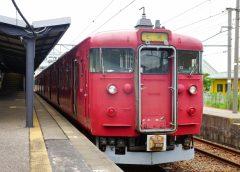 新型車両への置き換えに伴い北陸本線・七尾線での運用が終了するJR西日本413系電車(写真AC/りっくん_)