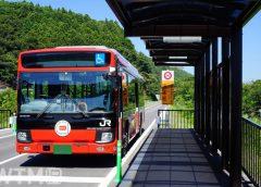 BRT専用道を走行するJR東日本気仙沼線BRT(りっくん_/写真AC)