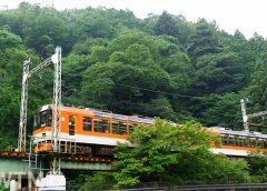 叡山電鉄の展望列車「きらら」デオ900形電車(しん0726/写真AC)