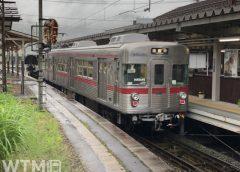 湯田中駅に停車中の長野電鉄3500系電車(たまくじら/写真AC)