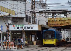 新今宮駅前停留所に停車中の阪堺電気軌道モ601形電車(Katsumi/TOKYO STUDIO)