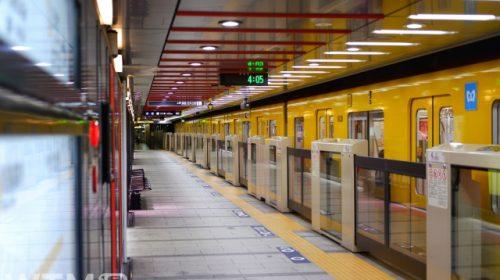 銀座線浅草駅に停車中の東京メトロ1000系電車(choco❁⃘*.゚/写真AC)