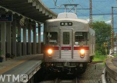 湯田中駅に到着する長野電鉄3500系電車(とちぎ/写真AC)