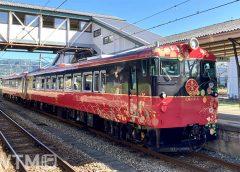 七尾駅に停車中の観光列車「花嫁のれん」JR西日本キハ48形気動車(HAIDARUI/写真AC)