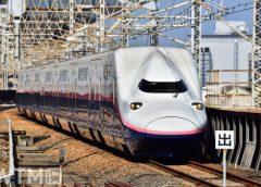 上越新幹線で運行しているオール2階建て新幹線E4系Max編成(H.Motti/写真AC)
