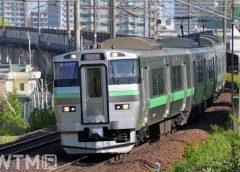 快速「エアポート」などで運行しているJR北海道733系電車(中村 昌寛/写真AC)