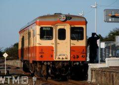 湊線阿字ケ浦駅に停車中のひたちなか海浜鉄道キハ205気動車(tarousite/PIXTA)