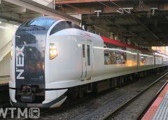 特急「成田エクスプレス」で運行しているJR東日本E259系電車(忍者くん/写真AC)