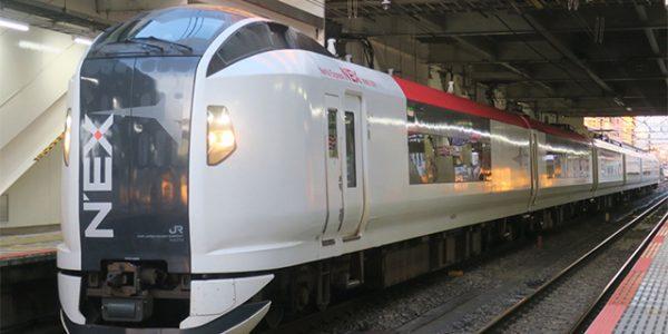 品川駅ホームで電車内テレワークを JR東日本 電源・Wi-Fi付「成田エクスプレス」車両