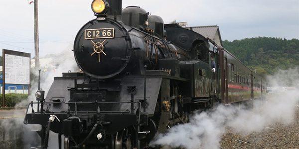 緊急事態宣言明け「SLもおか」再開 真岡鐵道 C1266号機に「ハロウィン」ヘッドマーク